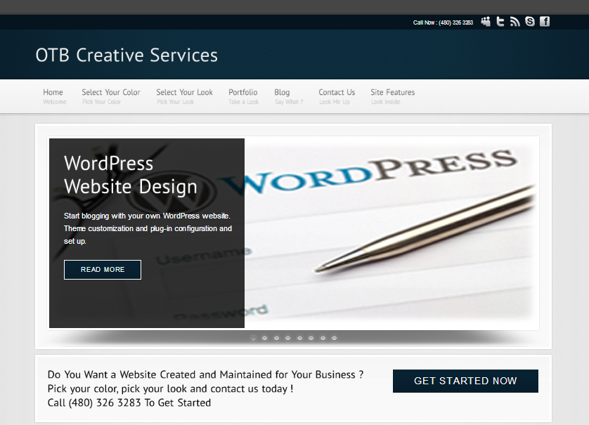 wordpress web design services