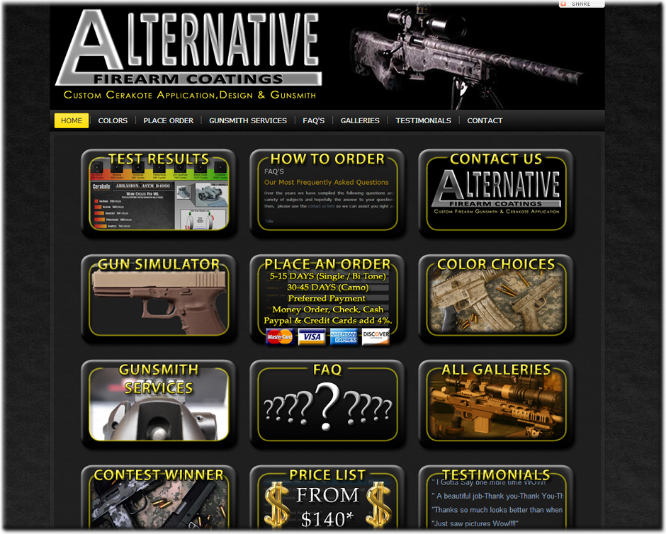 Web Designer for Gunsmiths