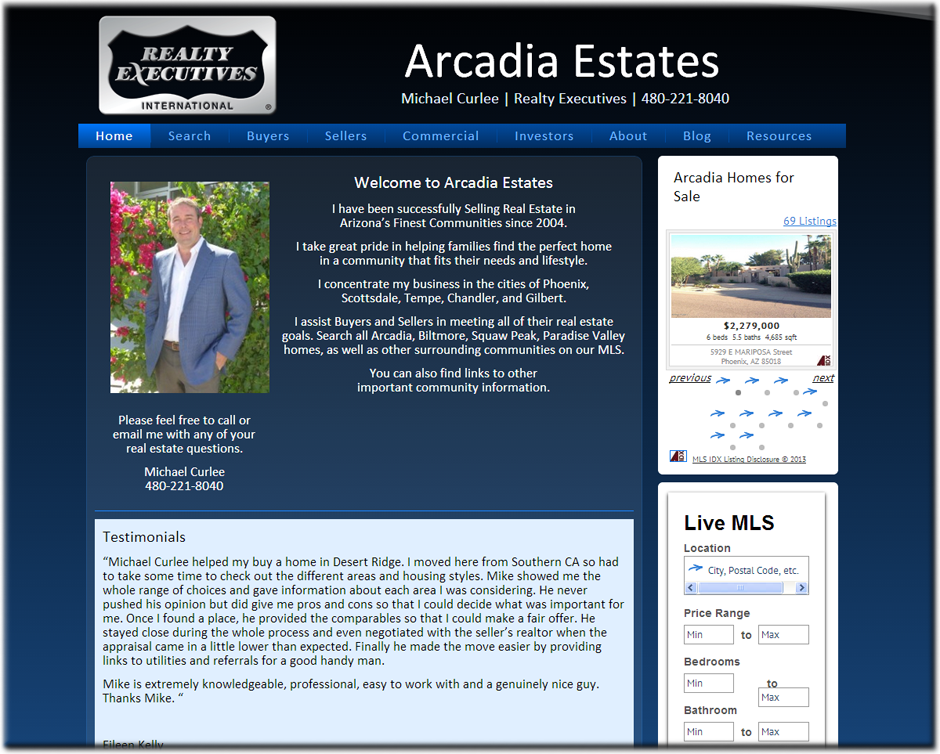 Web Designer for Realtors
