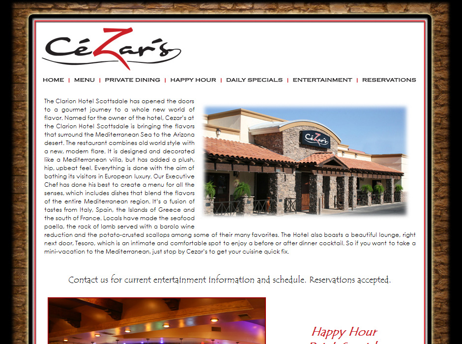 Web Designer for Restaurants