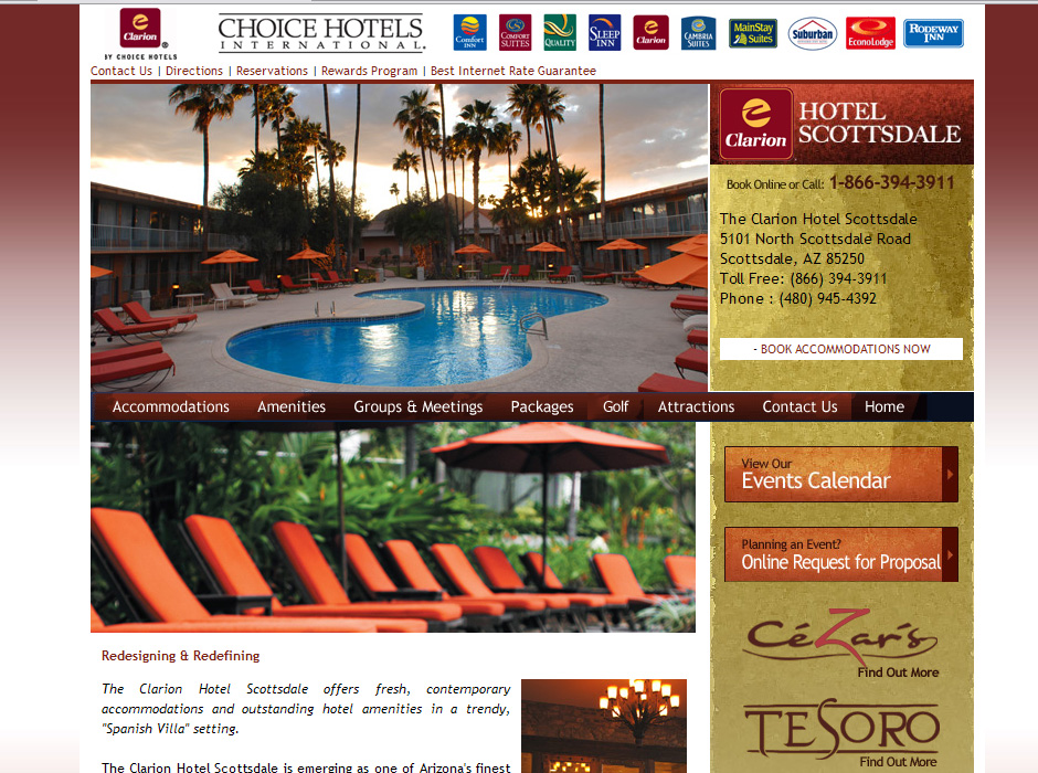 Web Designer for Hotels