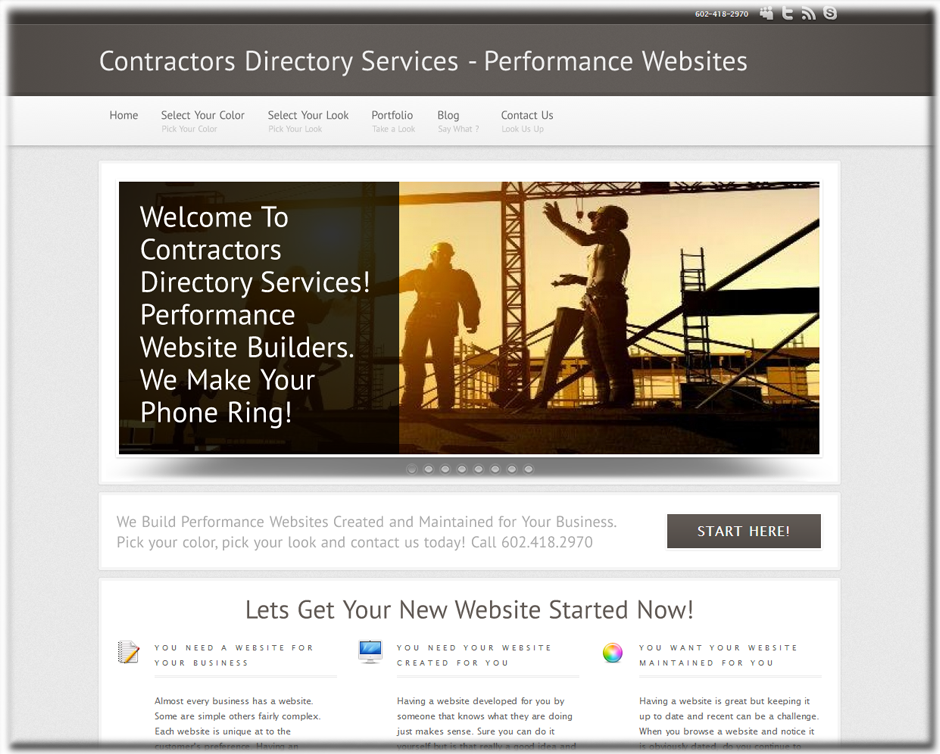 Web Designer for Contractors