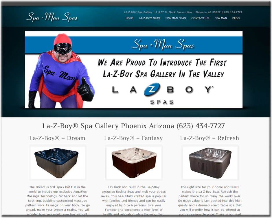 Web Designer for SPA Hot Tub Retailers